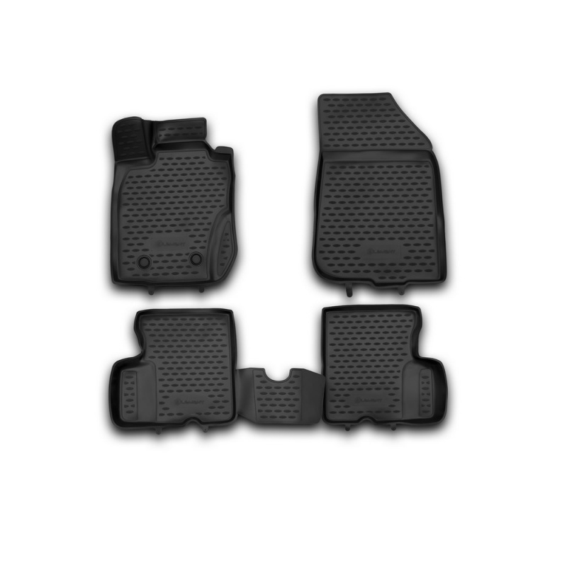 Car Mats 3D salon For RENAULT Duster 4WD, 2011-2015, 4 PCs (polyurethane)