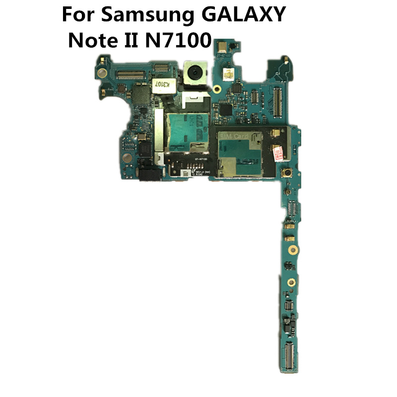Полный рабочий оригинальный использовать ЕС версия и открыл доска для Samsung Galaxy Note II N7100 Материнские платы логика материнской плате пластины