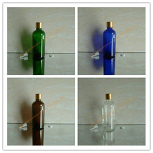 100ml brown/clear/blue/green shiny Glass Essential Oil Bottle With shiny gold aluminum cap(smooth)+plstic insert. Oil vial