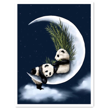 DIY Diamond Painting full Pandas set on the moon Diamond Embroidery pandas play on the moon Diamond Mosaic Cross Stitch pandas on the moon