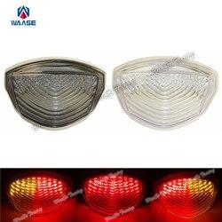 Waase E-oznaczone tylne światło tylne Tail hamulca włącz sygnały zintegrowana lampa Led dymu dla 2007 2008 SUZUKI GSXR1000 GSX-R 1000 K7 K8
