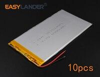 10pcs Lot 3 7V 5000mAh Rechargeable Li Polymer Li Ion Battery For Bluetooth Notebook E Book