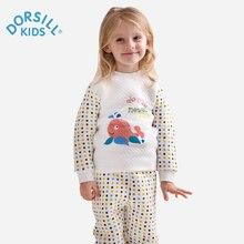 Dorsill Winter Warm Children's Sleepwear Cotton Dot Carton Kids Long Johns New Fashion Soft Underwear Sets for Girls and Boys