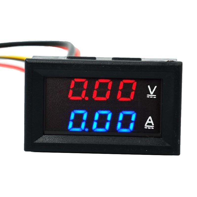 0.28 DC 100V 10A Blue Red Dual LED Display Digital Panel Voltmeter Ammeter Amp Volt Current Indicator Monitor Detector 40%OFF