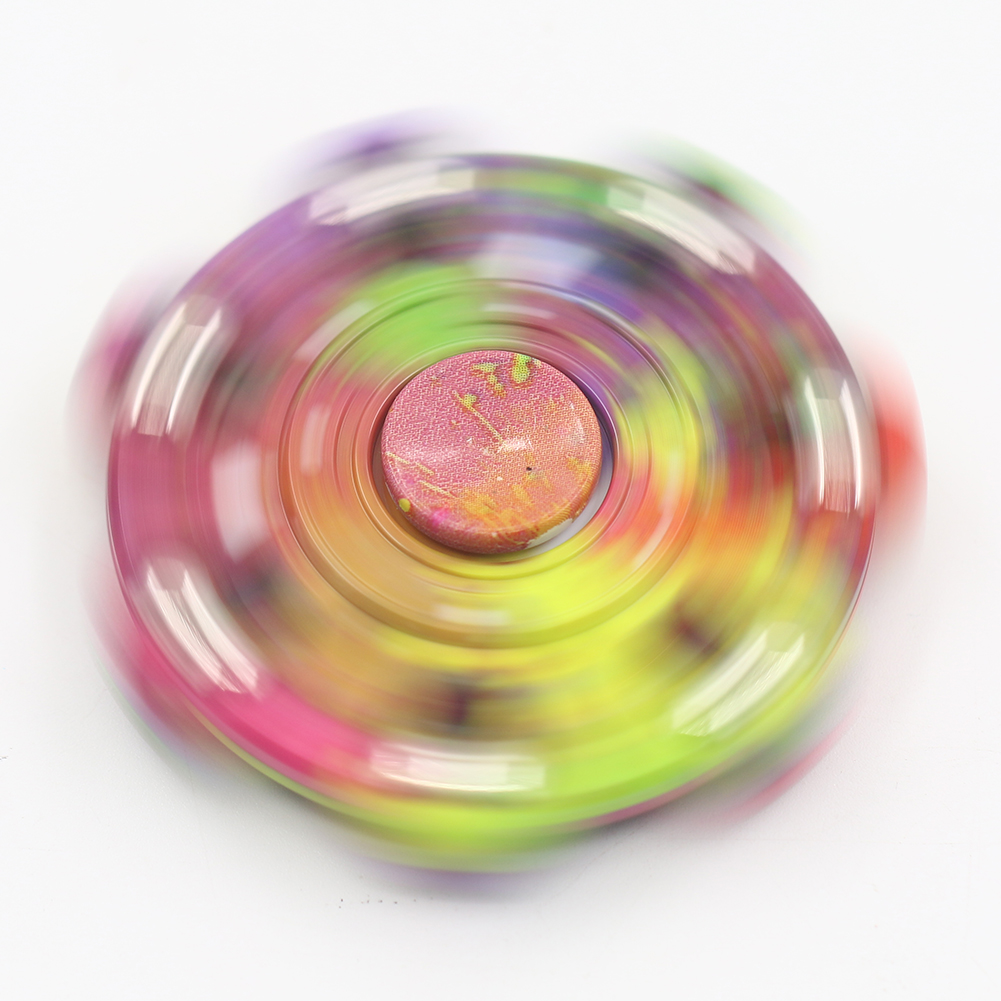 Kids Adults Camouflage Painting Graffiti Hand Spinner Fingertip Gyro Desk Toy