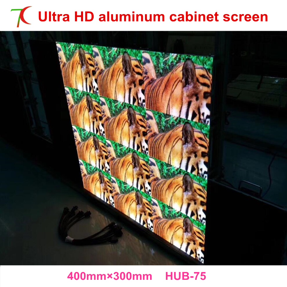 P1.667/P1.923 Indoor 400*300mm High Definition Die-casting Aluminum Cabinet Led Display Screen