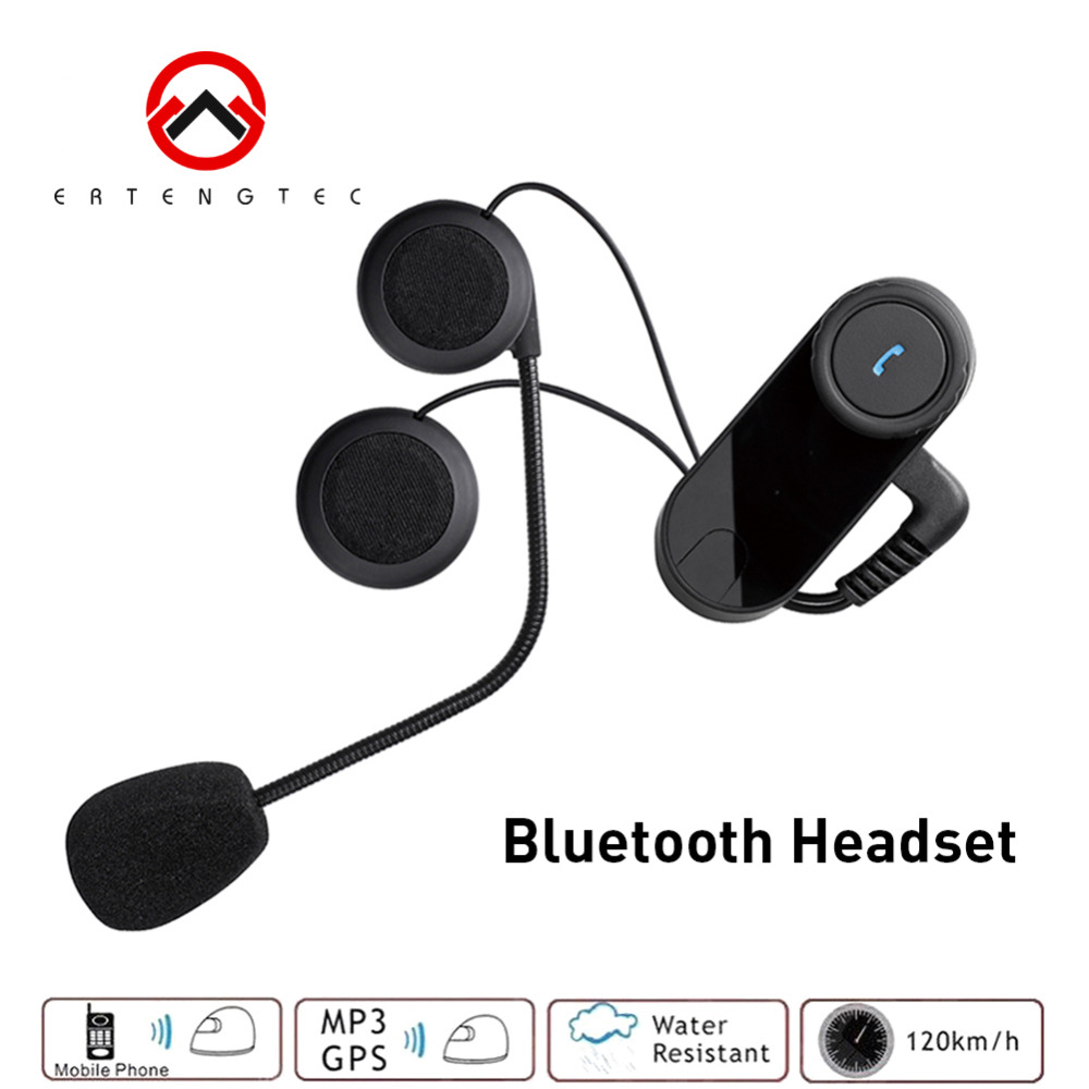 Motorbike Bluetooth Headset HiFI Speacker For Rider and Passenger T-COM02S Intercom Voice Promp Water Resistant Standby 300Hours ...