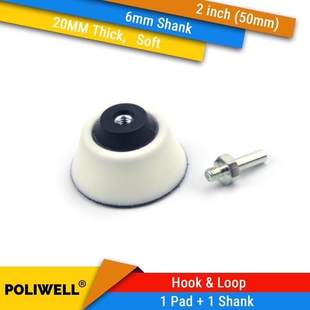 """2 Cal (50mm) 20MM miękka pianka Back up stopa szlifierska + 6mm cholewka do 2 """"tarcze szlifierskie do obróbki drewna, obrotowe akcesoria do elektronarzędzi"""