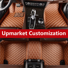ФОТО choose from a variety of colors leather custom fit car floor mats carpets 3d durable and dirty leather for tesla modelx s