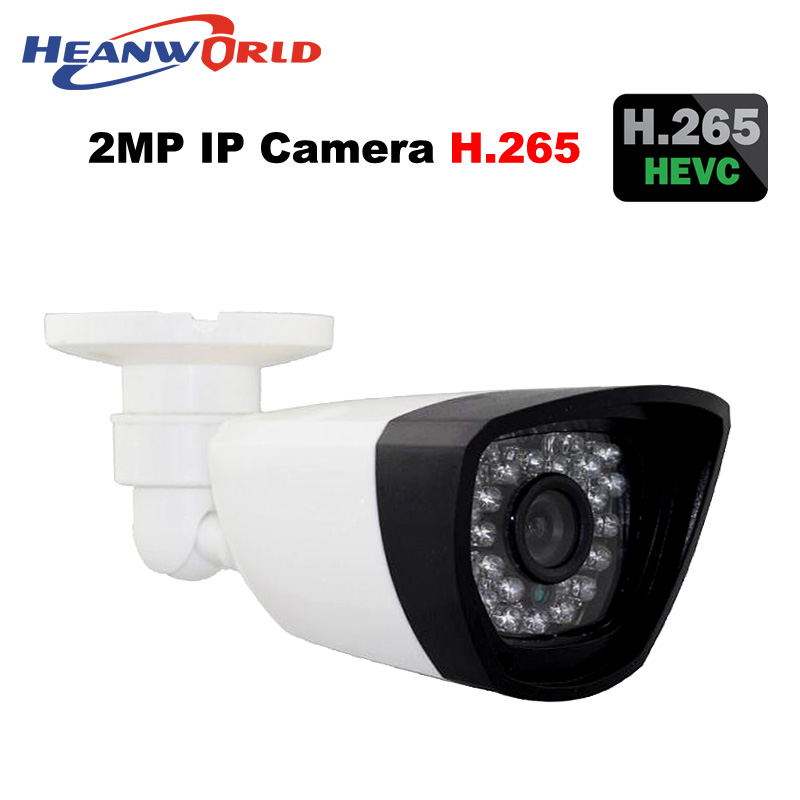 Outdoor HD H.265 Ip camera 2.0MP cctv security bullet camera video wanscam 1080P onvif night vision IR camera day and night use wistino cctv bullet ip camera xmeye waterproof outdoor 720p 960p 1080p home surverillance security video monitor night vision