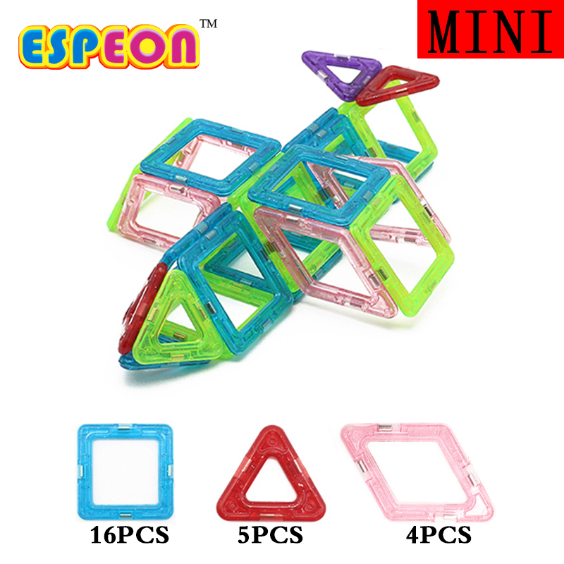 Espeon 25 PC Mini Plane Helicopter Model Upplysa Tegelstenar Educational Magnetic Designer DIY Building Blocks Leksaker För Barn
