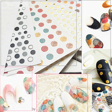 3D Nail Art Sticker Gold black colorful Circle Geometry Stickers  Adhesive Slider Star Moon Decals Z0160