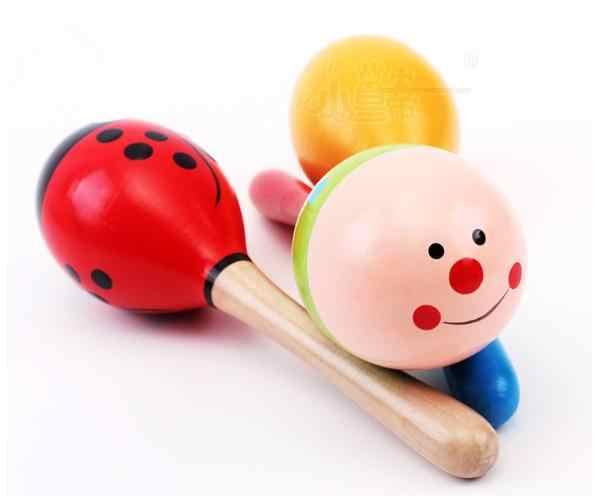 1 PC Bayi Anak Bola Kayu Mainan Pasir Hammer Mainan Alat Musik Perkusi Bayi Gyh