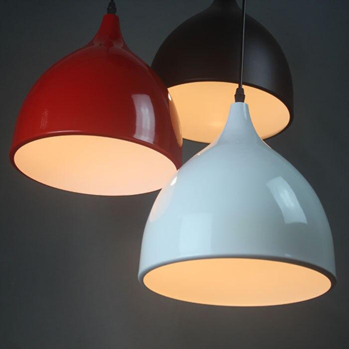 1PC Iron pendant lights lamp shade three dining restaurant bar table lamp aluminum bedroom study clothe decoration pendant lamp