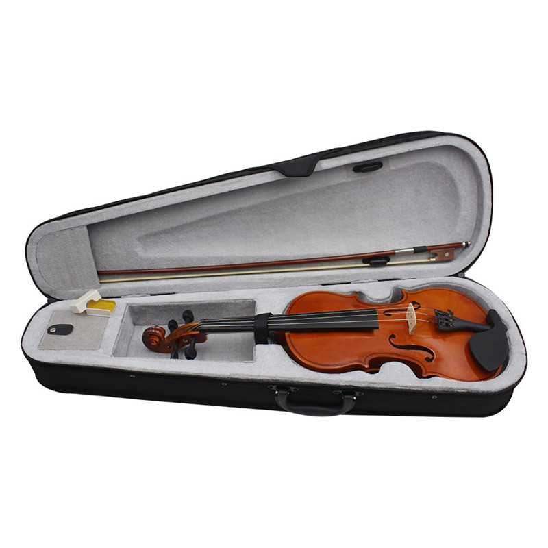 IRIN 4/4 violon acoustique naturel pleine grandeur violon artisanat Violino avec étui cordes d'arc muet Instrument à 4 cordes pour Beiginner - 4