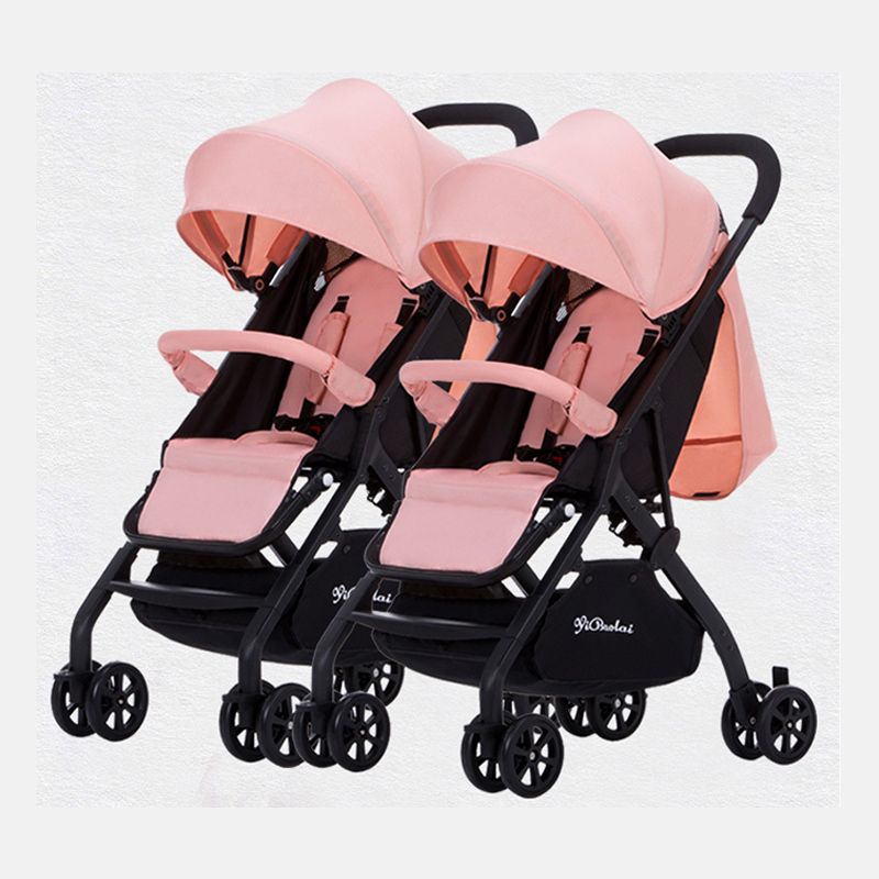 Lightweight Twin Baby Stroller Can Detachable Sit Lie Down Easy Folding Double Seats Baby Carriage Travel Pram Baby Trolley 0 3Y