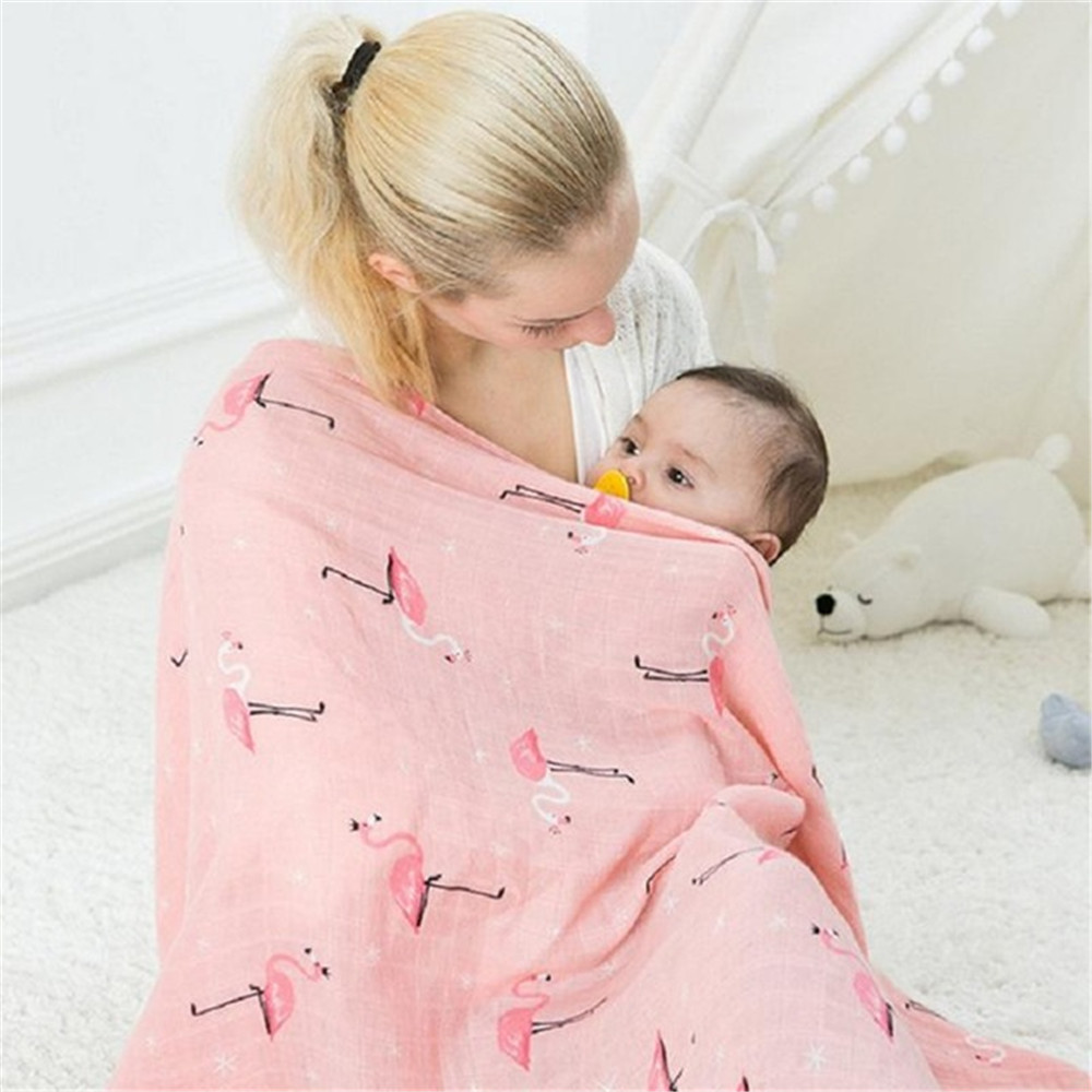 Muslin Baby Blankets Newborn Photography Accessories Soft Breathable Swaddle Wrap Infant ...