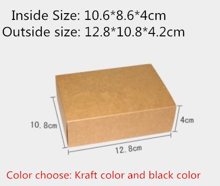 25pcs/lot-10.6*8.6*4cm Black Kraft Paper Drawer Box Handmade Soap Gift Craft Jewel Macaron Packaging Party Gift Boxes