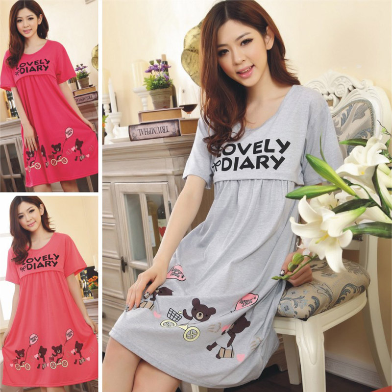 2017 New Summer Pregnant Women Casual Short Sleeve Dress Nursing Clothes Maternity dress Cute Cotton Maternity hot S