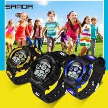 SANDA Kids Watches Outdoor Sports Luminous Stopwatch Date We