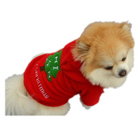 Christmas Pet Puppy Dog Clothes Santa Claus Costume Outwear Thick Coat Apparel X10203