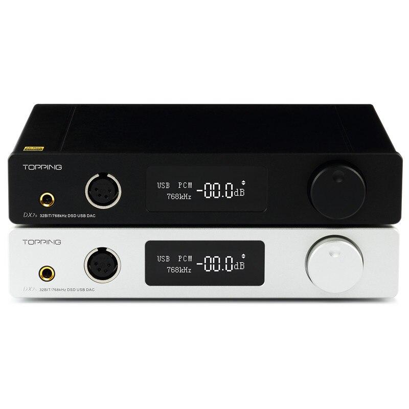 TOPPING DX7s completa DAC y amplificador de auriculares decodificador soporte 32BIT/768 k DSD512 nativo 1000 MW * 2 @ 32ohm
