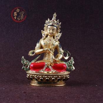 Special Offer  14cm # Greco-Buddhist HOME OFFICE Talisman  House Protection # Tibetan Vajrasattva color Gilding Buddha statue