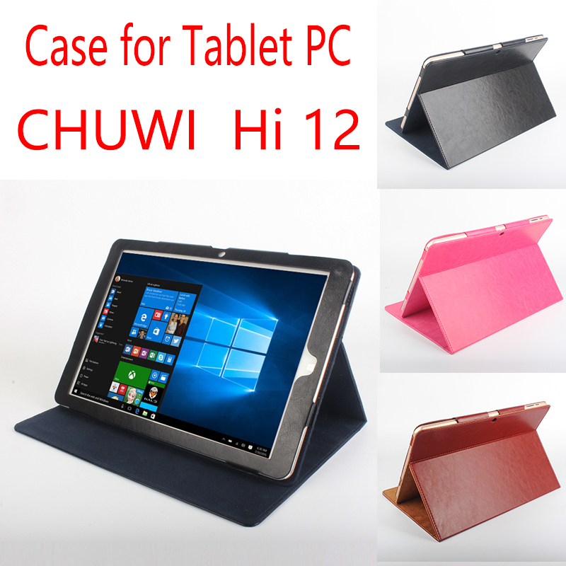 12 High Quality PU Leather Original Flip Cases For CHUWI HI12 Tablets Cases For CHUWI HI 12 Cover Tablet PC HI12 Case case for chuwi hi 12 hi12 12 protective cover pu leather pouch for chuwi hi12 12 inch tablet pc universal sleeve bag cases