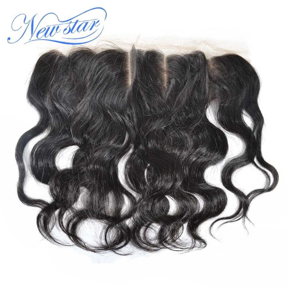 Pelo humano virgen de la onda del cuerpo peruano 3 Paquetes de extensión con un cierre Frontal de encaje 13x4 100% sin procesar pelo que teje