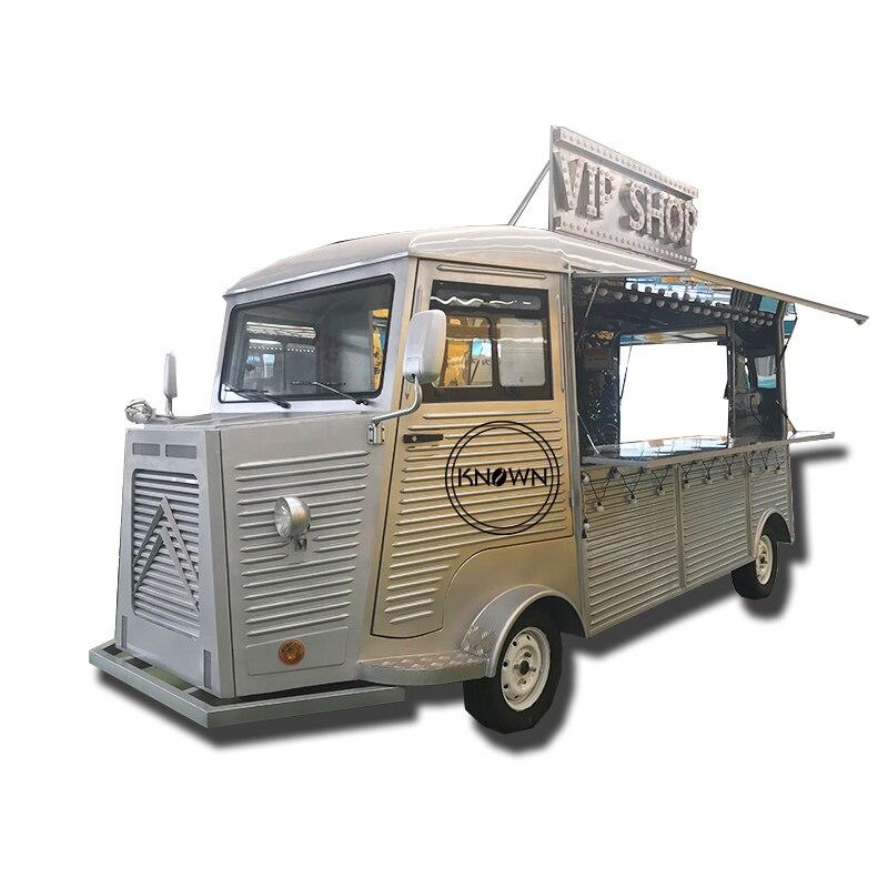 2019 China Factory Supply Citroen Vintage H Van High-Speed Fryer Noodle Citroen Mobile Food Truck