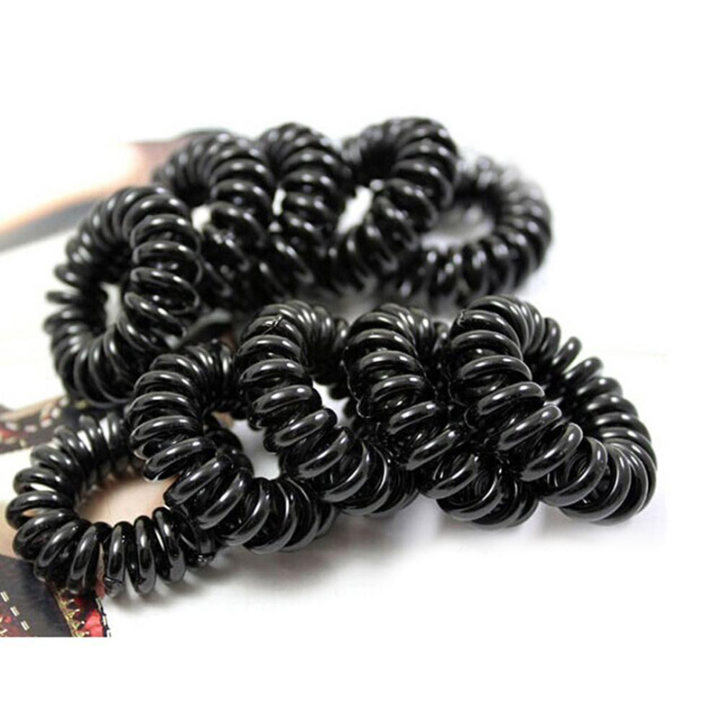 1pcs Telephone Wire Gum For Hair Accessories Women Hair Tie Hair Rope Candy-Colored Scrunchie Elastic Ring Elastic Hair Band