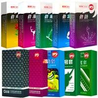 100 шт. презервативы Случайная Доставка Натуральный латекс гладкой презервативы со смазкой для мужчин Секс игрушки интимные товары