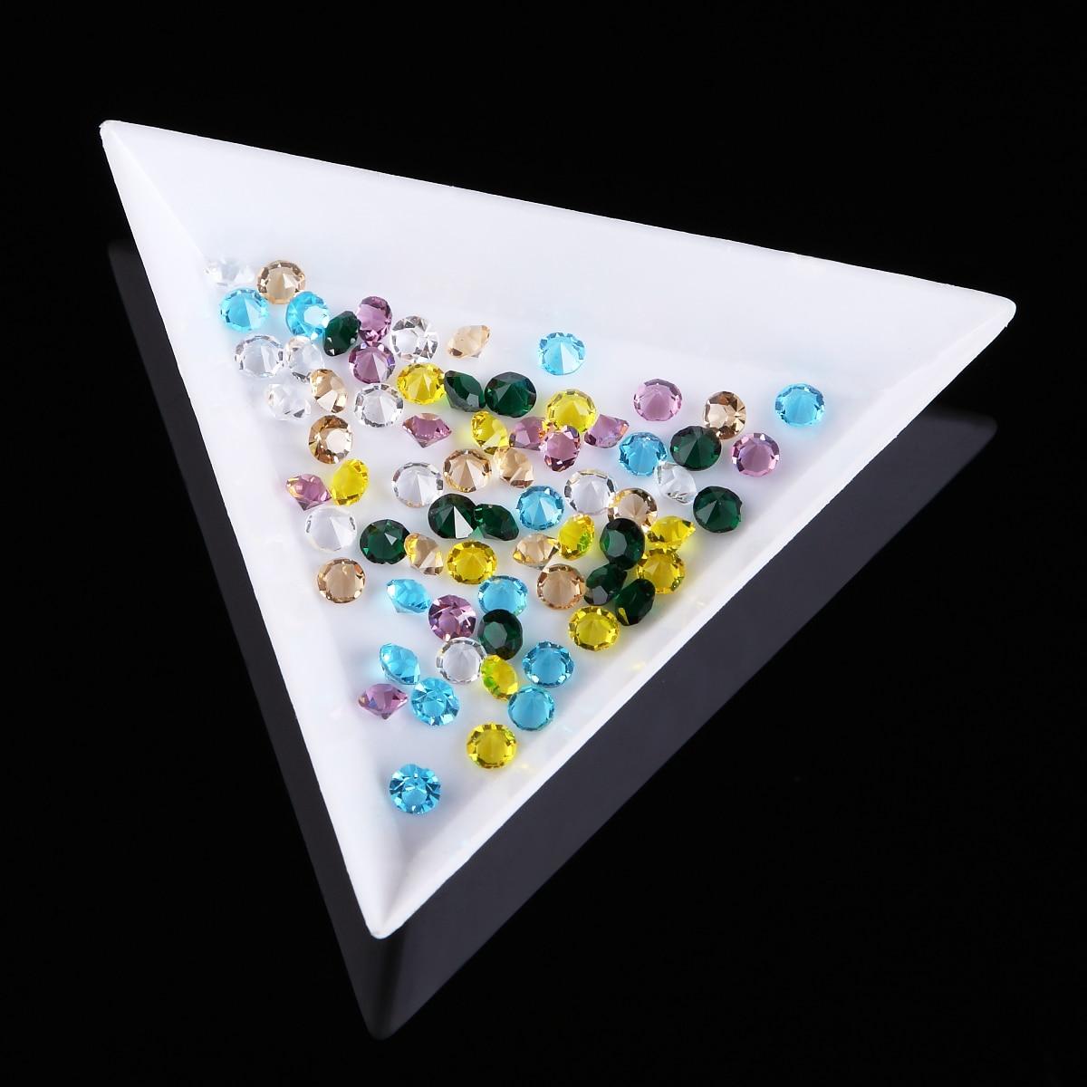 2 Diamond Gemstone Sorting Tray Pearl Bead Part Tools