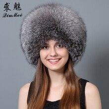 QiuMei de piel de zorro chaqueta de invierno sombreros completa Real de  piel de conejo Rex 9d0aebdf24d