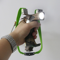 1 pc hotsale archery stainless steel camo fierce power flashlight outsports catapult slingshot for shooting
