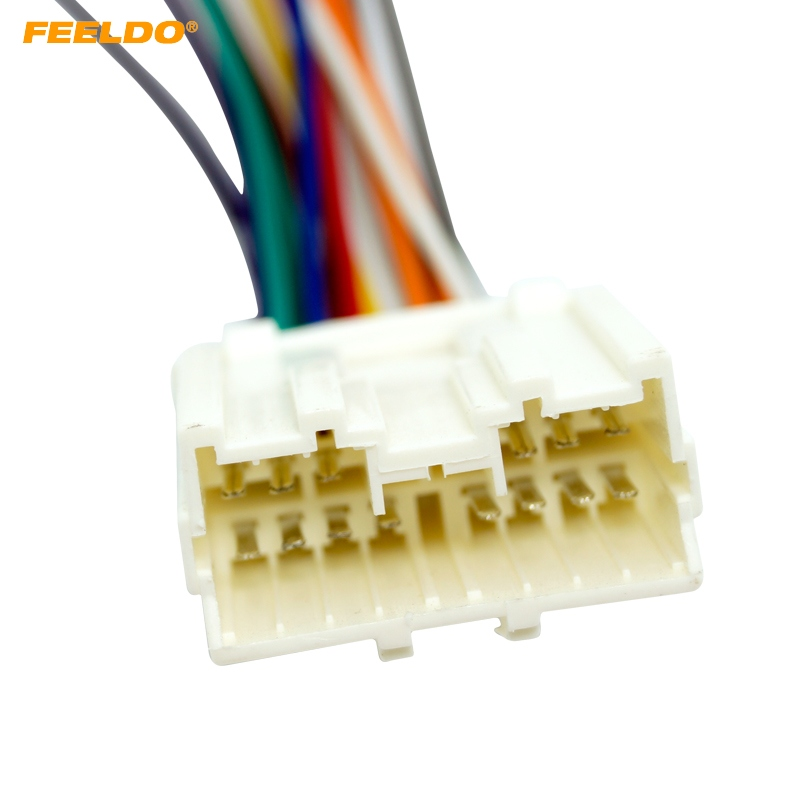 Feeldo Car Radio Stereo Wiring Harness Adapter For
