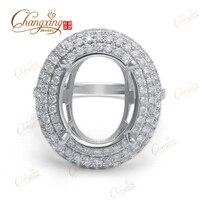 11x13mm Oval Cut 14k White Gold Natural 1 16ct Full Cut Diamond Semi Mount Ring