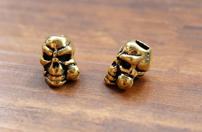1pc DIY Skull Umbrella pendant Brass Knife Beads Pendant Rope Copper Fall Outdoors EDC