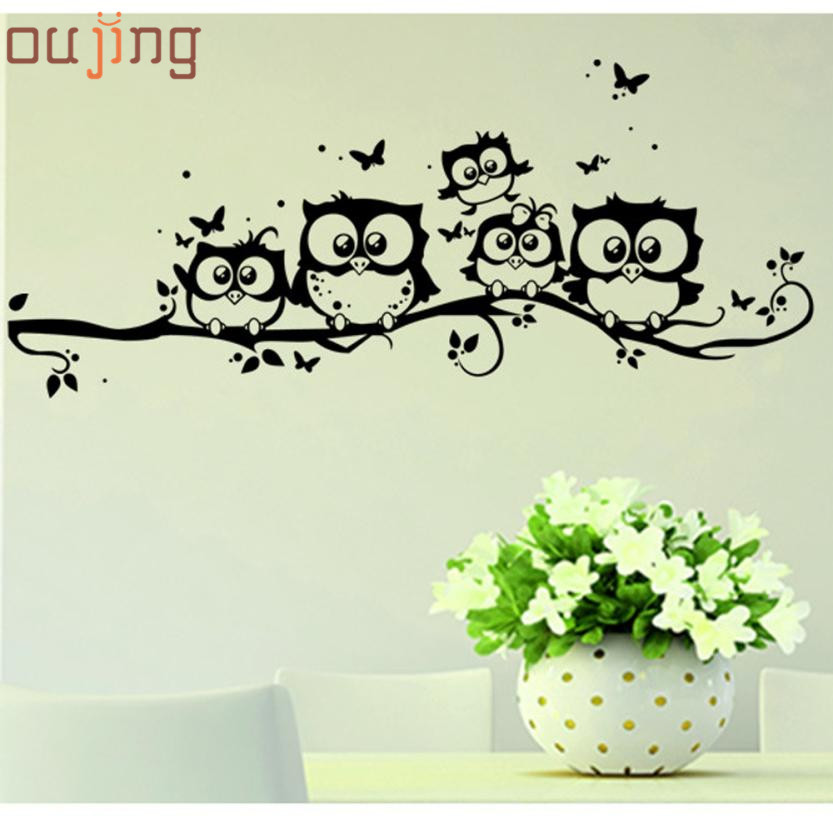 New Qualified Wall Stickers Kids Vinyl Art Cartoon Owl Butterfly Wall  Sticker Decor Home Decal Levert Dropship Dig632   Deal Of The Day Deal Of  The Day