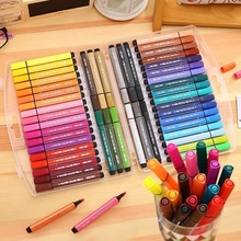 Pen Art-Markers Drawing-Supplies Color-Pens Washable Set with 12-24-36 48set for Fine-Tip