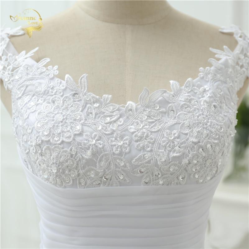 Vestido De Noiva Vestido de Boda en la Playa Casamento A line Cap - Vestidos de novia - foto 5