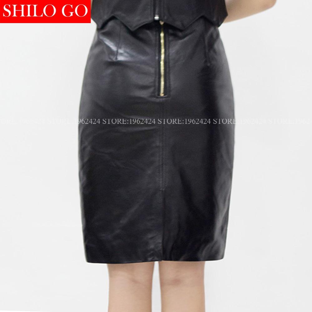Automne Cuir Bureau Qualité Moutons Taille Hiver En Femmes Tempérament Haute Mode Supérieure Crayon Ol Jupe Sauvage rxqr80p