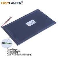 10 unids/lote 25100150 de 3,7 V 4800 mAh recargable li batería de polímero para 9 pulgadas 10 Tablet PC 25100149 Banco de la energía ordenador portátil