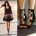 Forme a Mujeres Las Sandalias 2017 Del Gladiador Del Verano Sandalias Mujer Tacones Altos Zapatos de Las Mujeres Chaussure Femme