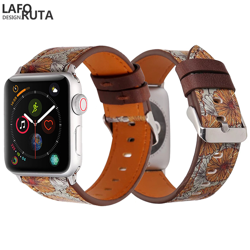 Laforuta Leather Loop for Apple Watch Band 44mm 40mm Strap iWatch Series 4  Wristband 42mm 38mm Bracelet