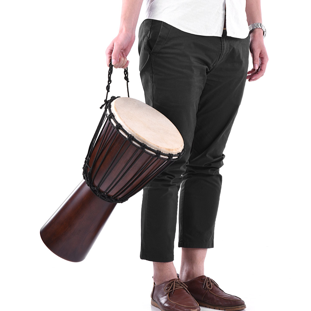 Professional 8 10 African Djembe Drum Hand Bongo Drum Percussion Music Instrument Select Hardwood Body Goatskin