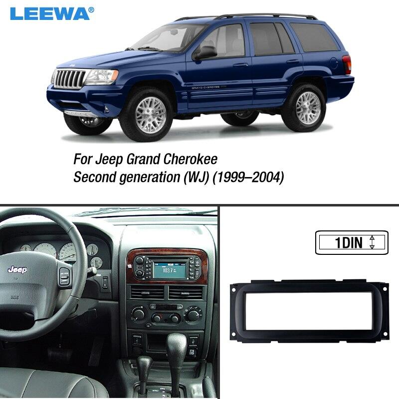 LEEWA 1DIN Car Refitting Dvd Cornice Fascia Dash Kit di Installazione Pannello Per Jeep Grand Cherokee (1999-2004) (WJ) # CA1663