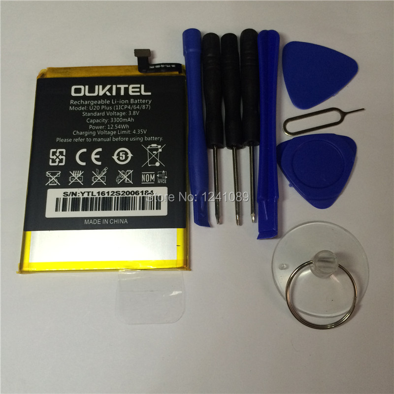 100% original battery OUKITEL U20 plus battery 3300mAh 5.5inch MTK6737T +disassemble tool