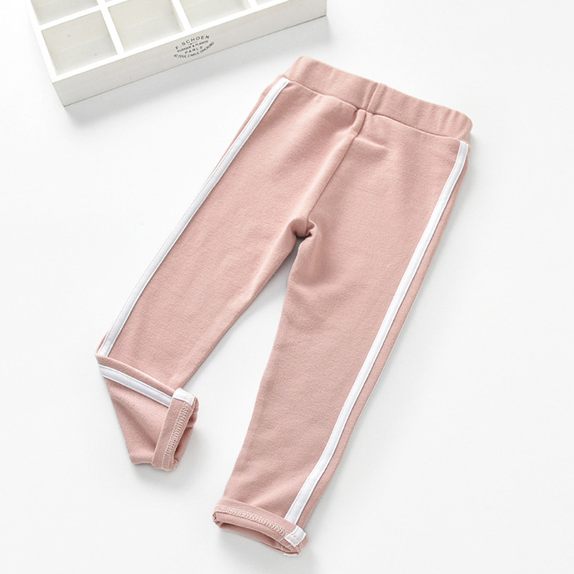 0 6T New Fashion Girl Pants Pure Color Side stripe Sports Leggings for Kid Girls Pants Kids Leggings Sport Trousers Outwear in Pants from Mother Kids