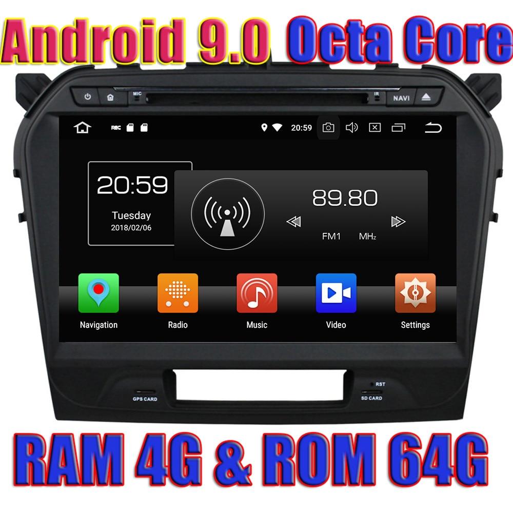 WANUSUAL Android 9.0 GPS Navigation For Suzuki Vitara 2015 2016 2017 Radio Player 2 Din Multimedia Magnitol DVD Octa Core Video